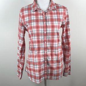 Garnet Hill Plaid Button Up Shirt 8